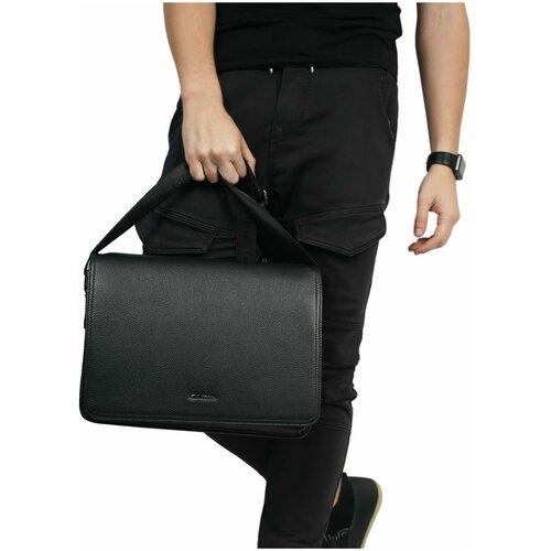 Итальянская мужская сумка на плечо/Италия, 100% натуральная кожа