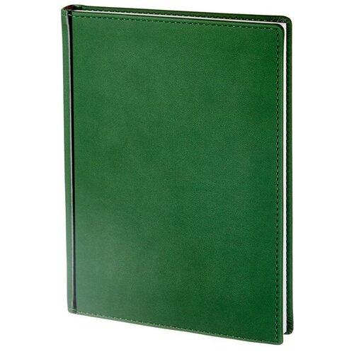 Купить Ежедневник недатированный Attache Velvet искусственная кожа A5+ 136 листов зеленый (146х206 мм) 1 шт., Ежедневники