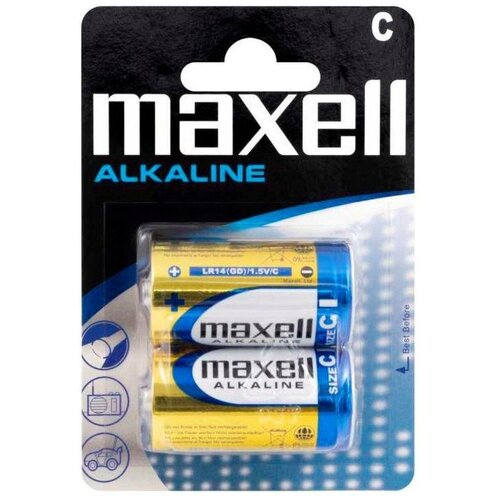 Фото - Батарейка Maxell LR14 C BL2 Alkaline 1.5V батарейка maxell sr 621sw 1 шт