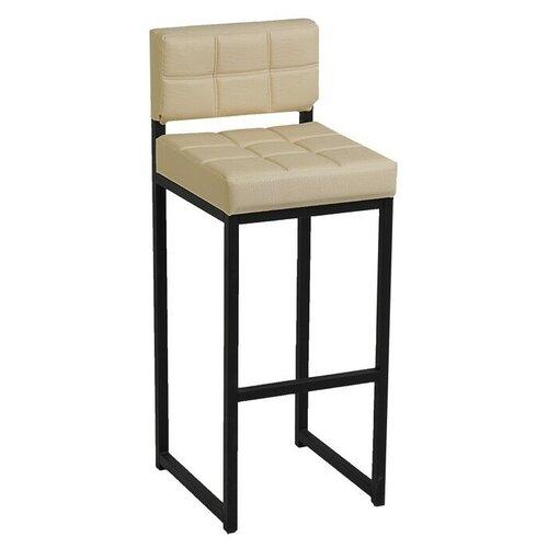 Стул Клик Мебель Лофт-1, металл/искусственная кожа, цвет: черный/молочная рептилия