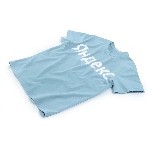 Футболка с новым лого «Яндекс» (размер L), голубой