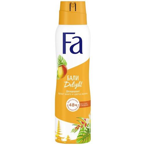 Fa дезодорант, спрей, Ритмы острова Бали Delight Аромат манго и цветка ванили, 150 мл