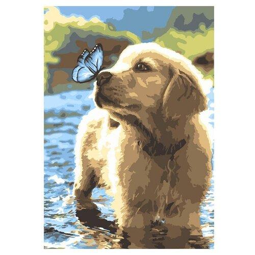 Фото - Картина по номерам Любопытный щенок Кпн-085 2 шт. картина по номерам lori любопытный щенок 28 5х20 см