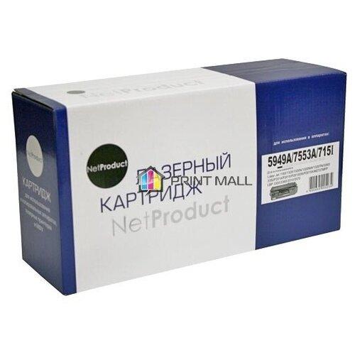 Фото - Картридж NetProduct для HP LaserJet 1160, 1320, P2015, Canon 715 (3000 стр.) Q5949A, Q7553A барабан hp q5949a q5949x q7553a q7553x canon crg 708