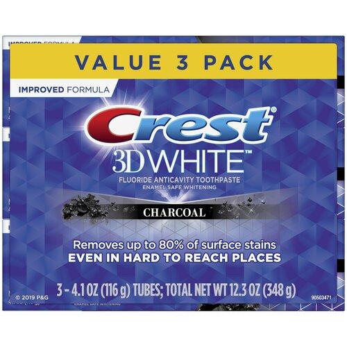 Crest 3D White Charcoal – Набор из 3 зубных паст