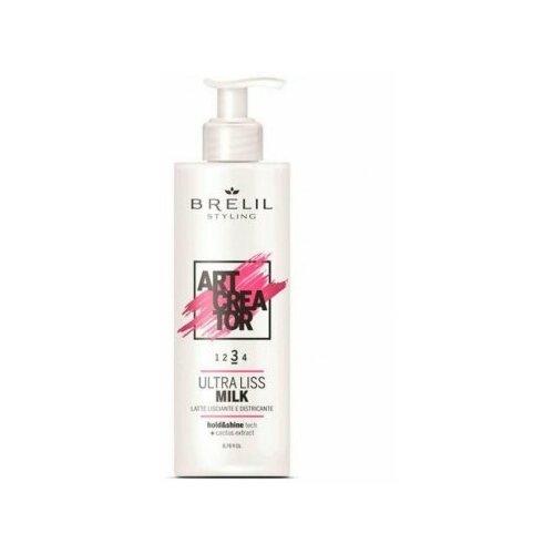 Купить Brelil art creator ultra milk liss ультраразглаживающее молочко для волос 200 мл (3), Brelil Professional