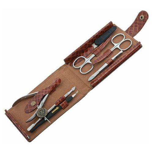 Фото - Маникюрный набор Zinger MS-1404 S, 7 предметов маникюрный набор с косметичкой zinger ms 1205 804 s 10 предметов