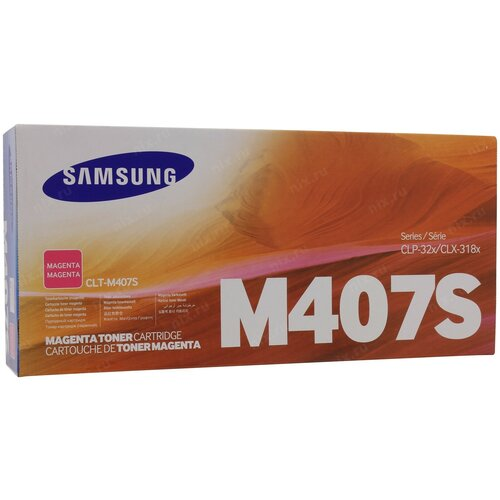 Фото - Картридж лазерный SAMSUNG CLT-M407S пурпурный (100 картридж лазерный samsung clt y506s желтый 1500ст