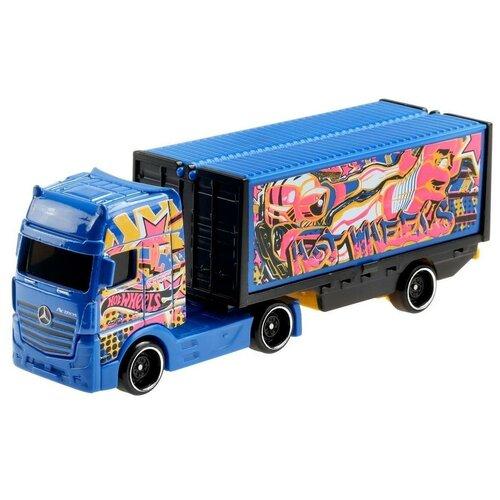 Mattel Hot Wheels BFM60 Трейлер Мерседес-Бенц Актрос GRV12 машинка mattel hot wheels трейлер с прицепом