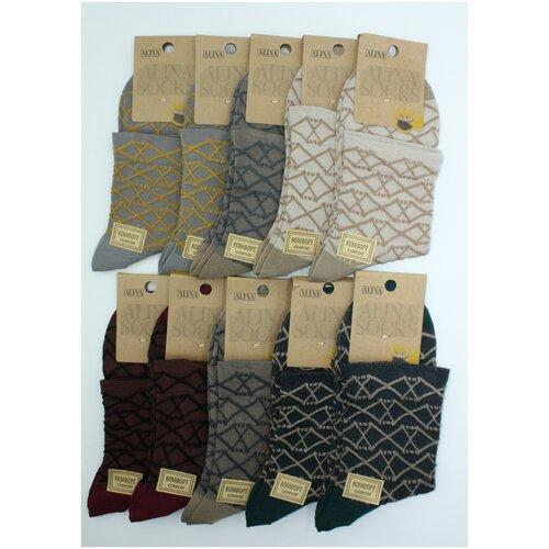 Носки женские Alina CC2083 / 10пар , бежевые, серые, бордовые, зеленые, размер 36-41