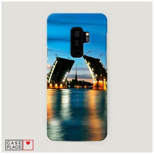 Чехол Пластиковый Samsung Galaxy S9 Plus Разведенные мосты в СПб 2