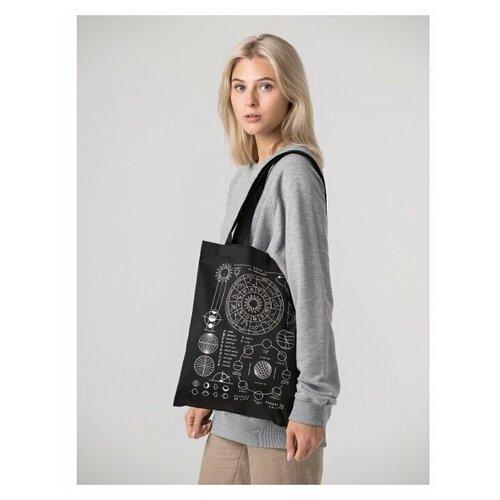 Сумка шоппер YARKOYARKO/холщовая сумка/тряпичная сумка/женская сумка/черный шоппер
