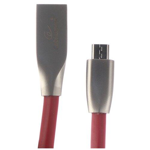 Аксессуар Gembird Cablexpert USB AM/microBM 1m Red CC-G-mUSB01R-1M аксессуар gembird cablexpert usb am lightning 1m black cc g apusb01bk 1m
