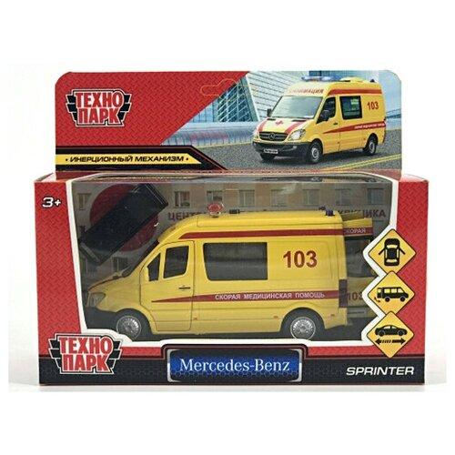 300437 Машина mercedes-benz sprinter реанимация 14см, открыв. двери, инерц. в кор. Технопарк микроавтобус технопарк mercedes benz sprinter реанимация sprinter 22pl rean 22 см желтый