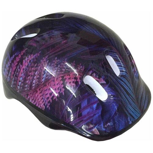 Шлем детский защитный ATEMI, аквапринт Тропик, Размер М (6-12 лет), AKH06BM