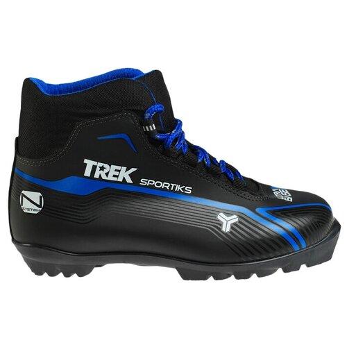 Trek Ботинки лыжные TREK Sportiks NNN ИК, цвет чёрный, лого синий, размер 37