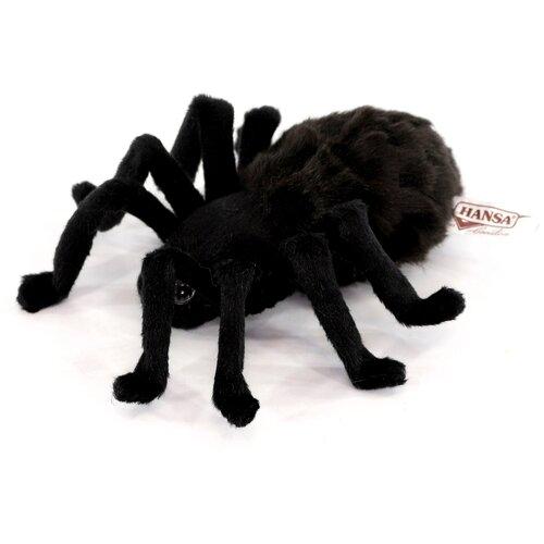 мягкие игрушки hansa тарантул коричневый 19 см Мягкая игрушка Hansa Тарантул чёрный 19 см