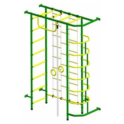 Спортивный комплекс Пионер 9Л зелёно/жёлтый