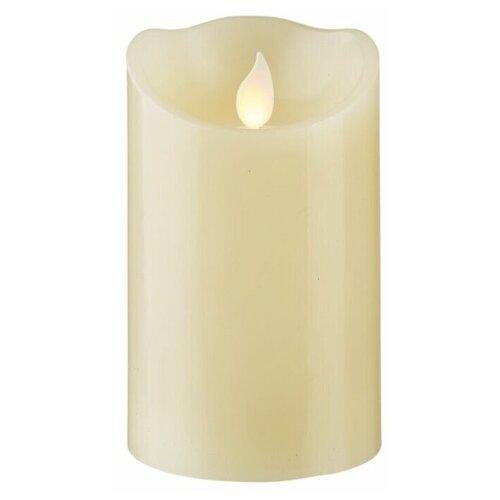 свеча светодиодная пластиковая с эффектом мерцающего пламени высота 8 5 см цвет бежевый 063 88 Свеча светодиодная с эффектом мерцающего пламени, цвет - бежевый, 064-21
