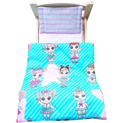 lili gaufrette болеро Комплект для большой куклы Lili Dreams: одеяло, подушка, матрас. Куколки