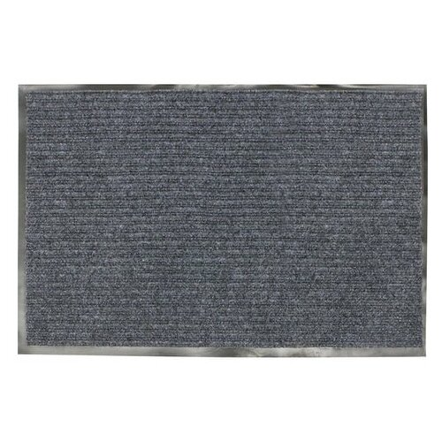 Коврик входной ворсовый влаго-грязезащитный, 90х60 см, толщина 7 мм, серый, VORTEX коврик грязезащитный резиновый лапша vortex черно серый полосы 22408 40х60 см