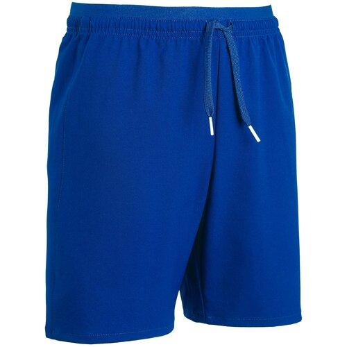 Шорты детские синие F500, размер: 131-140 CM 8-9, цвет: Яркий Индиго KIPSTA Х Декатлон