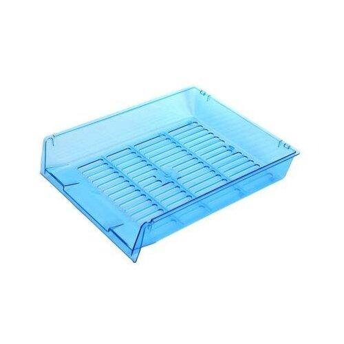 Купить Лоток для бумаг горизонтальный Attache Bright Colours решетчатый прозрачный голубой 2 шт., Лотки для бумаги