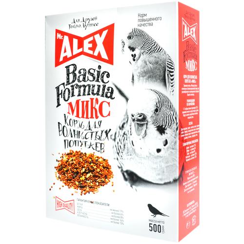 Фото - Mr. ALEX Вasic корм для попугаев Микс 500г mr alex basic корм двп минерал 500г