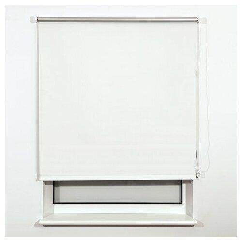 Штора рулонная светонепроницаемая (Блэкаут) BRABIX 140х175 см, белый/серебро, 606019