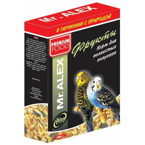 Фото - Mr. ALEX Вasic корм для попугаев Фрукты 500г mr alex basic корм двп минерал 500г