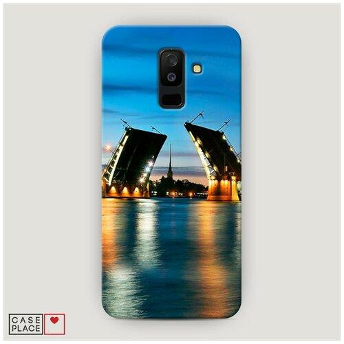 Чехол Пластиковый Samsung Galaxy A6 Plus Разведенные мосты в СПб 2