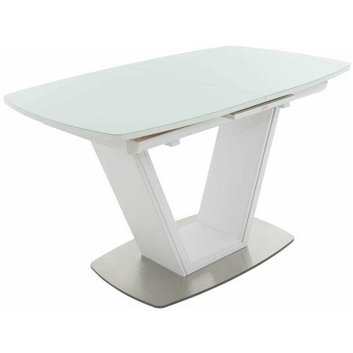 Стол обеденный раздвижной Аврора Севилья белый, 130х80х76 см