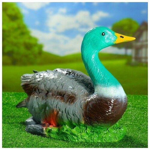 Садовая фигура Утка дикая 35х50х30см 4379237 садовая фигура утка цветная мал 30 20 46 см f01271 1145141