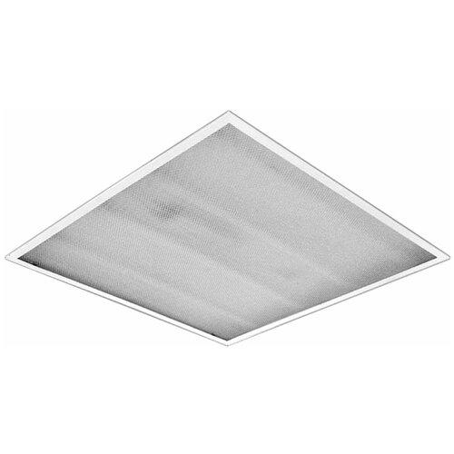 Светильник люминесцентный армстронг, ксенон, 4 люминесцентные лампы х18 Вт, ЭПРА, матовый, 595×595×70