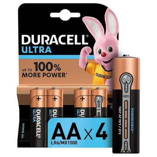 Фото - Батарейки DURACELL UltraPower AA/LR6-4BL батарейки duracell размера aa 60 шт