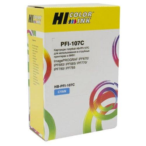 Фото - Картридж Hi-Black (PFI-107C) для Canon iPF680/685/780/785, C картридж canon pfi 107 c для ipf680 685 780 785 голубой 6706b001