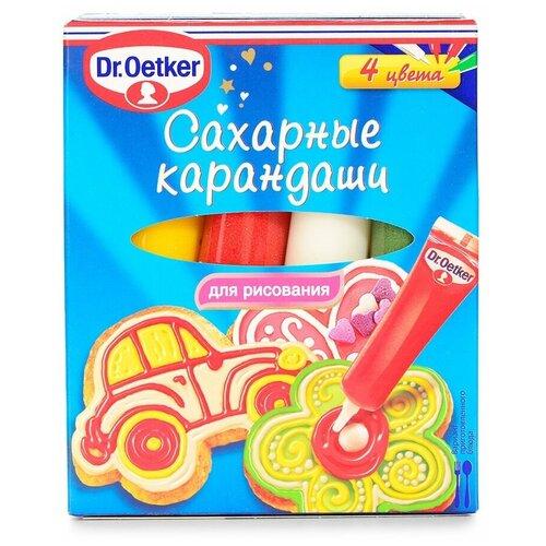 Кондитерские украшения «Сахарные карандаши», Dr.Oetker, 76 г (4х19 г), Польша
