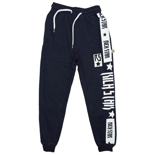 Спортивные брюки Папитто размер 146-152, синий брюки orby 100117 размер 146 152 черный