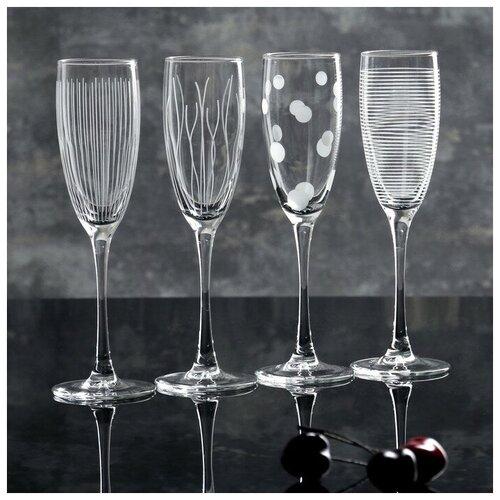 Фото - Набор бокалов для шампанского 170 мл LUMINARC Lounge club, 4 шт luminarc набор фужеров для шампанского signature 3 шт 170 мл j9756