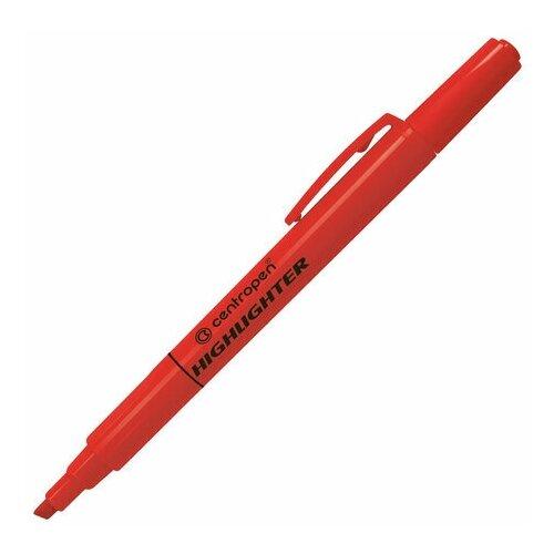 Купить Маркер-текстовыделитель Centropen 8722 (1-4мм, красный) 4шт., 10 уп. (4 8722 9354), Маркеры