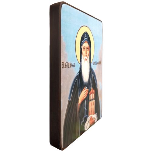 Икона Олег Брянский на голубом фоне, размер 14 х 19 см