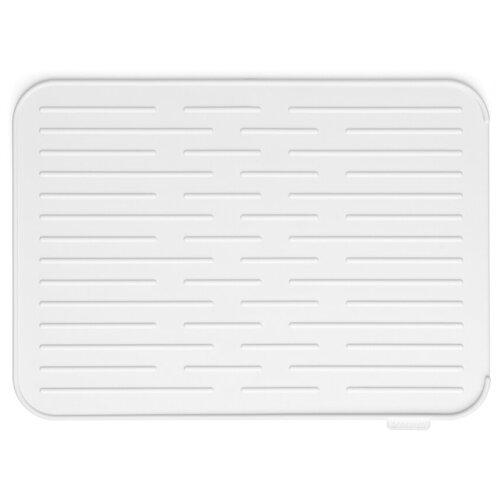 117466 Силиконовый коврик для сушки посуды, светло-серый