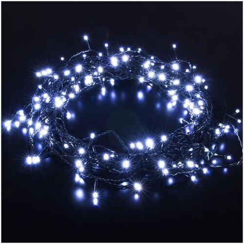 Фото - Гирлянда Eurosvet занавес a049839 (45 х 150 см), 150 ламп, белый/темно-зеленый провод платок женский troll цвет темно синий молочный tsa0345gr размер 150 см х 150 см