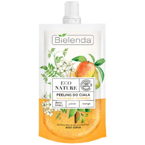 ECO NATURE Какаду слива+Жасмин+Масло манго очищающий скраб для тела увлажняющий 125г