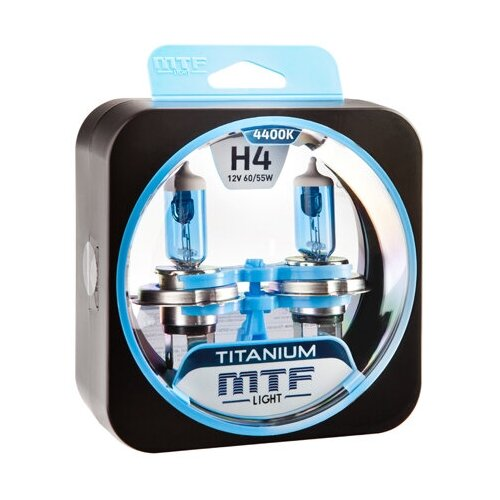 Галогеновые лампы MTF light Titanium 4400K H4 (2 лампы)