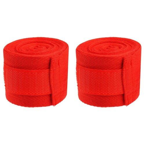 Бинты боксерские 1,5 метра, 2 шт в комплекте (красные)