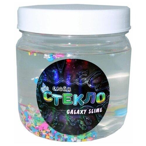 Слайм Стекло серия Galaxy slime, прозрачный, 400 гр, Слайм Стекло