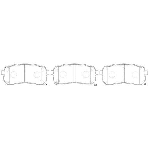 Дисковые тормозные колодки задние NIBK PN0457 для Kia Sorento, Hyundai H1 (4 шт.)