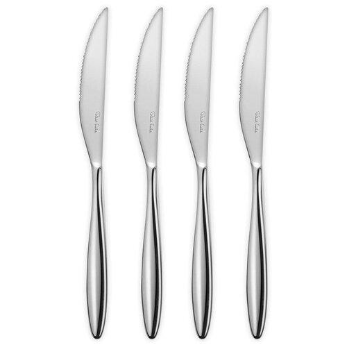 Фото - Набор из 4-х ножей для стейка Hidcote Bright 23,5 см, нержавеющая сталь 18/10, Robert Welch, HIDBR1012V/4 набор ножей для стейка robert welch kingham bright 4 шт