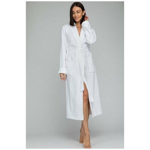 Фото - Бамбуковый махровый халат NATUREL (PM 908) размер 4XL (60-62), белый халат vistyle размер 4xl черный белый